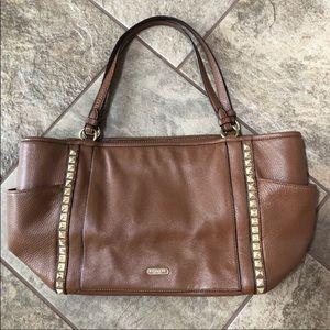| nwot | COACH Studded Leather Shoulder Bag